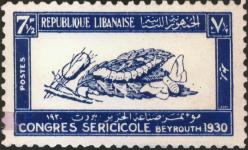 Seide auf Briefmarken